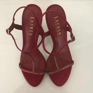 Ralph Lauren Strappy Red Heels